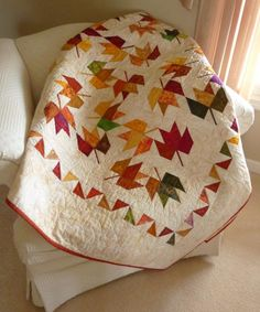 beautiful Maple leaf quilt Judy