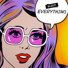 Fck Everything by Pop Art Zombie. High quality. Hand painted.  36″ x 36″ x 1.5″ (91.4cm x 91.4cm x 3.8cm). Acrylic on canvas. Painted sides.  BLEEP!