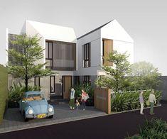 Reposted from . AM Homestay, Jogja. Design by studio nafia, 2019 . House Outer Design, Modern House Design, Vernacular Architecture, Modern Architecture, Lampang, Architecture Presentation Board, Facade Design, Facade House, Facades