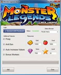monster legends hack tool download without survey