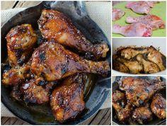 Sticky Sweet Bacon Glazed Chicken in the Crock Pot!