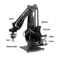 Abb Pump Mechanical Robot Arm Suction Cups Simulation Industry Manipulator Glass Fiber Stand with Full Digital Servo +Controller