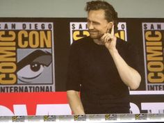 """tomhiddleslove: """"Tom Hiddleston at Marvel Studios panel announcing the Loki Series on Disney+ in the spring of at Comic-Con International, San Diego, California, on July """" Hiddleston Daily, Tom Hiddleston Loki, Marvel Series, Tv Series, Loki Tv, Avenger, Twitter, Mind The Gap, Disney Plus"""