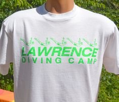 vintage 80s t-shirt lawrence DIVING camp dive by skippyhaha