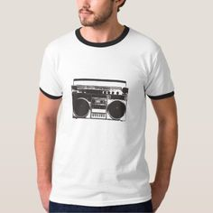 Shop Old School Cassette Player T-Shirt created by malcolmvintage. Old School, Fitness Models, Audio Player, Casual, Sleeves, Mens Tops, Cotton, How To Wear, T Shirt