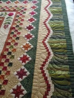 Ideas Quilting Designs For Borders Patchwork Patchwork Quilting, Quilt Stitching, Longarm Quilting, Free Motion Quilting, Applique Quilts, Quilting Projects, Quilting Ideas, Modern Quilting, Machine Quilting Patterns