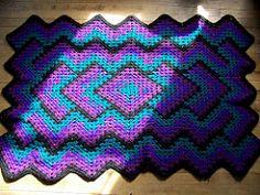 Ravelry: Diamond Zigzag Afghan pattern by Della Castillo