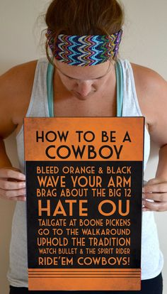 OSU Art Print OSU Cowboys Quote Poster Sign by SmartyPantsStudio, $24.00