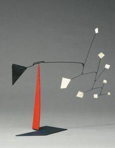 Alexander Calder 'White Quadrangles Black Triangles' Stabile from 1964 on www.moderndesign.org