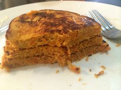 3 Crazy-Good, 3-Ingredient Pancakes - 1/2 a cooked sweet potato, 1 egg, a tablespoon natural peanut butter