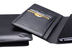 Silent Pocket SPWI6PFOBL Black iPhone6S Plus Fold Over Wallet