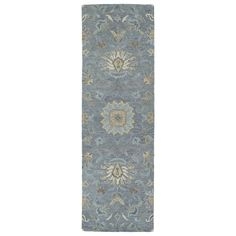 Christopher Kashan Graphite Hand-Tufted Rug (2'6 x 8'0) | Overstock.com Shopping - The Best Deals on Runner Rugs