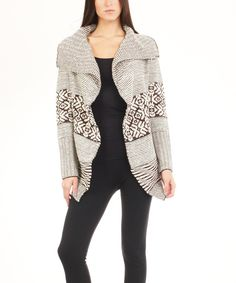 Look at this Bacci Brown Snowflake Open Cardigan on #zulily today!