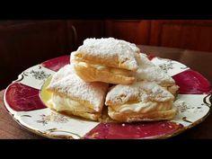 Εύκολα μίνι μιλφέιγ για κέρασμα!! - YouTube Greek Recipes, Quiche, French Toast, Beverages, Baking, Breakfast, Cake, Sweet, Youtube