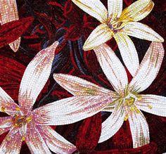 Red Floral Mosaic Tile :: Sicis