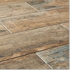 BuildDirect®: Cabot Porcelain Tile - Redwood Series --flooring idea for bath remodel Wood Tile Floors, Wood Planks, Kitchen Flooring, Ceramic Wood Tile Floor, Wood Grain Tile, Porcelain Floor, Rustic Tile Flooring, Hardwood Floors, Wood Tile Bathroom Floor