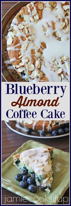 Blueberry Almond Coffee Cake | Jamie Cooks It Up