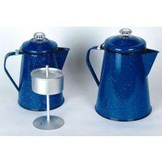 Outdoors|Camping|Cooking and Dinnerware|Enamelware Coffee Percolators - Lehmans.com