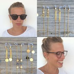 22k gold plated sunglasses chain with charm by bonkibizabracelets