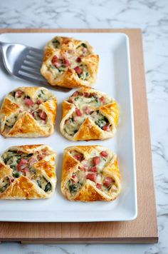 Ham, cheese and veg slices. Easy to make snacks or for part of a meal.