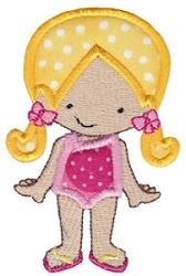 Pool Party Girl Applique - 2 Sizes! | Beach/Ocean | Machine Embroidery Designs | SWAKembroidery.com Bunnycup Embroidery