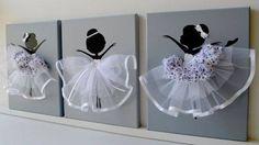 Cuadros decorativos de bailarina de ballet | Manualidades para Baby Shower