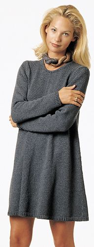 Ravelry: Susan pattern by Berroco Design Team  -  Simple and elegant grey knitted A-line tunic/dress