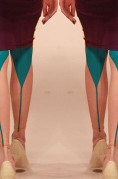 Colour blocking latex stockings - styling only. Latex Wear, Funny Fashion, Lovely Legs, Tight Leggings, Sock Shoes, Fashion Details, Style Guides, Dress To Impress, Color Blocking