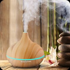 Wood Grain Mist Essential Oil Diffuser & Aroma Therapy Air Humidifier - 300ml  | Low Price + FREE SHIPPING - eBay