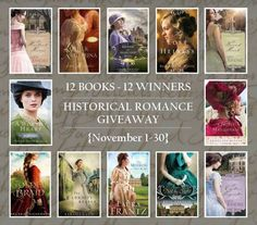 WIN 1 of 12 Historical Romances! #BookGiveaway http://jodyhedlund.com/extras/giveaways/