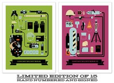 Ghostbusters  Ghostbusters 2 inspired art print 18x24 LIMITED EDITION. $50.00, via Etsy.
