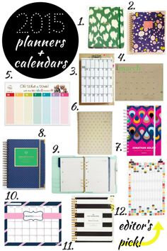 A new year, a new planner! If you're still using a paper calendar instead of an app these 2015 planners and calendars are the perfect way to start you off.