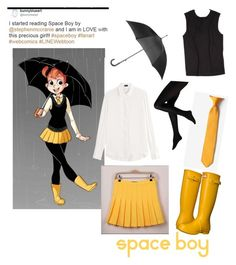 """""""Amy in the Rain"""" by heeyitsdani on Polyvore Space boy Webtoon. Cosplay outfit"""
