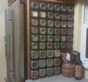 okay...magnetic paint used to make a spice rack wall? uh, ya!