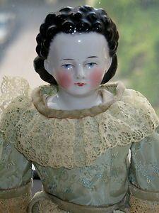Circa 1840-1850   China head doll.