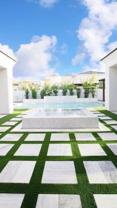 Backyard Pool Designs, Small Backyard Design, Swimming Pools Backyard, Small Backyard Landscaping, Backyard Ideas, Patio Ideas, Backyard With Pool, Backyard Pool And Spa, Modern Backyard Design
