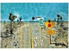 Exploring Great Artists (with kids): David Hockney, Pearblossom Highway, photomontage Pearblossom Highway, David Hockney Photography, David Hockney Joiners, Photo, Photo Collage, Photomontage, Cubism, Art, Hockney Inspired