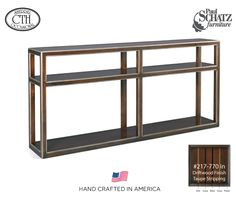 The great rooms console made in america by Paul Schatz! #AmericanHome #SOD