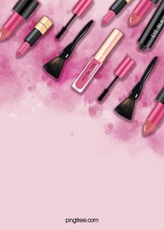fondo de cosméticos manchados acuarela rosa Flowers Background, Red Background Images, Paint Background, Makeup Backgrounds, Makeup Wallpapers, Makeup Poster, Nail Logo, Polish Posters, Pink Nail Polish