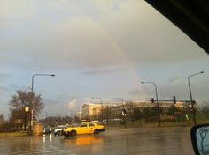3/16/12 - Beautiful rainbow after a crazy storm that came out of no where!
