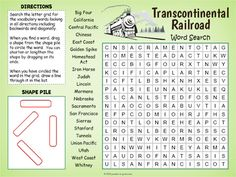 Google Classroom™ Transcontinental Railroad Word Search by Puzzles to Print Easy Word Search Printable, Free Word Search Puzzles, Kids Word Search, Pirate Words, History For Kids, Your Teacher, Google Classroom, Vocabulary Words, Learning Activities