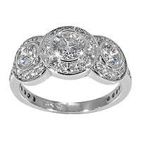 1.50 ct. t.w. 3-Stone Diamond Ring (G-H, SI2) - Sam's Club