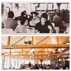 The Trafalgar cafeteria has always been a great place for students to eat and socialize between classes. #SheridanTBT
