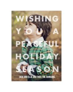 Peaceful Overlay Holiday Cards