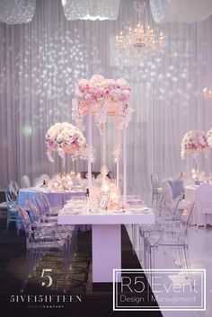 Event Design is an award-winning events company based in Toronto Wedding Decorations, Wedding Ideas, Table Decorations, Crystal Candelabra, Event Company, Bat Mitzvah, Corporate Events, Event Design, Orchids