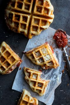 Deep Dish Chicago Pizza Waffles