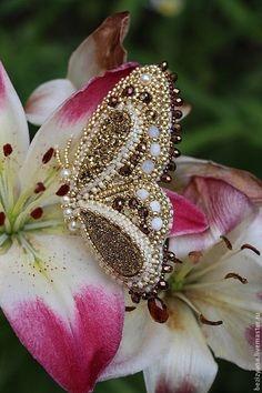 """Броши ручной работы. Ярмарка Мастеров - ручная работа Брошь бабочка """"Oro Farfalla"""". Handmade."""