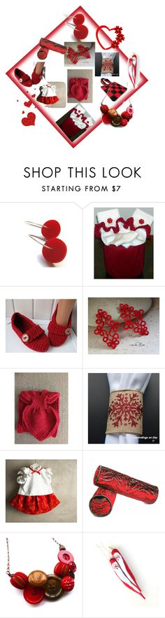 """""""Red."""" by lwitsa62 ❤ liked on Polyvore featuring interior, interiors, interior design, home, home decor, interior decorating and Hostess"""