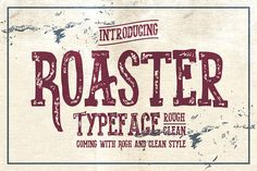 Roasted Typeface by Alterdeco Inc. on @creativemarket