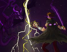 Epic fanart---- Rythian versus Her (aka the enderdragon queen)